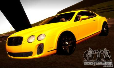 Bentley Continental Supersports for GTA San Andreas interior
