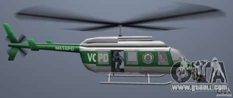 VCPD Chopper for GTA Vice City right view