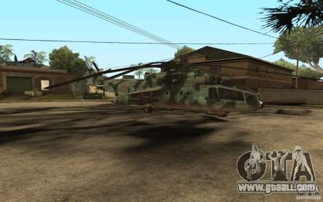 MI-24A for GTA San Andreas left view