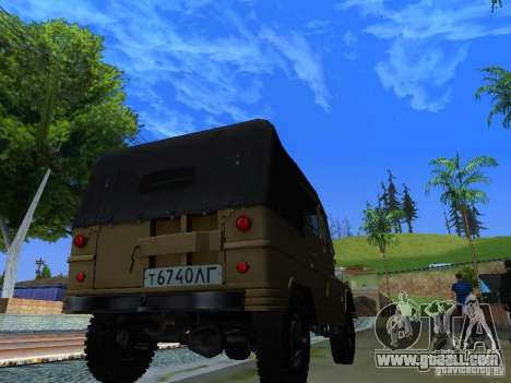 UAZ 460 for GTA San Andreas back left view