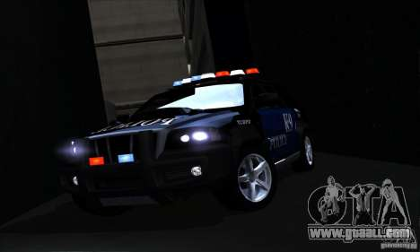NFS Undercover Police SUV for GTA San Andreas upper view
