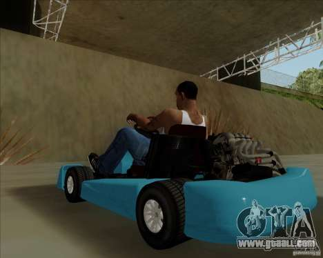 Kart for GTA San Andreas back view