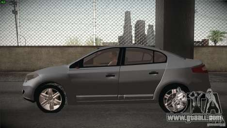 Renault Fluence for GTA San Andreas back view