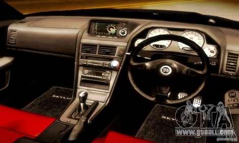 Nissan Skyline GT-R R34 for GTA San Andreas back view