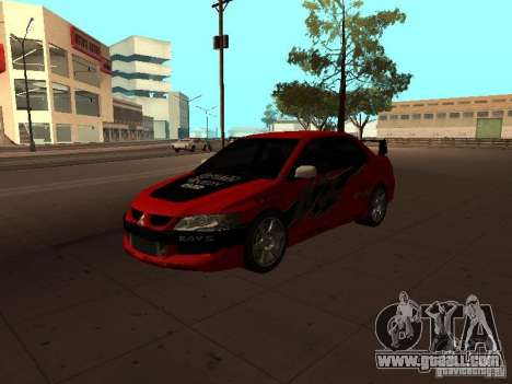 Mitsubishi Lancer Evolution 8 for GTA San Andreas inner view