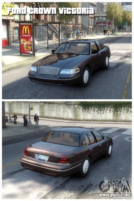 Ford Crown Victoria for GTA 4 left view