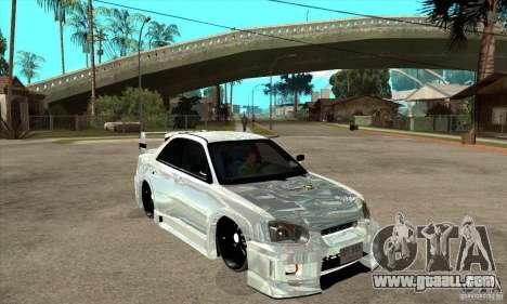 Subaru Impreza Tunned for GTA San Andreas back view