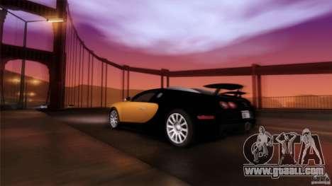 Bugatti Veyron 16.4 for GTA San Andreas interior