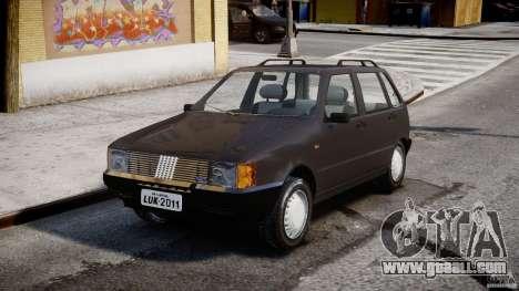 Fiat Uno 70SX 1989-1993 for GTA 4 back view