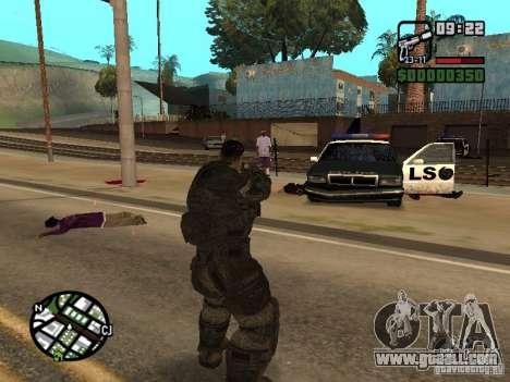 Dominic Santiago from Gears of War 2 for GTA San Andreas third screenshot