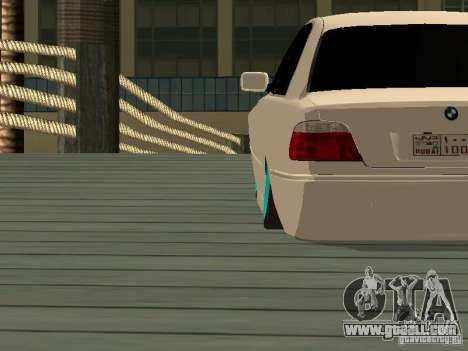 BMW 750i JDM for GTA San Andreas back left view