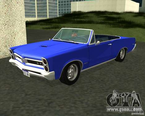 Pontiac GTO 1965 for GTA San Andreas back left view