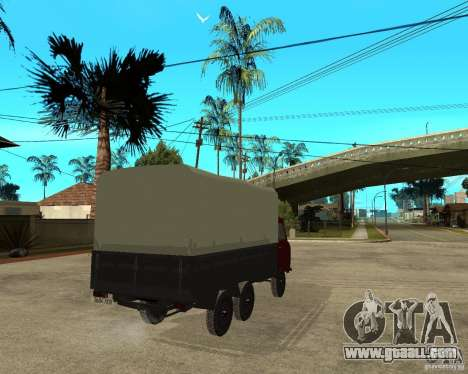 UAZ 452 cargo 6 x 6 for GTA San Andreas back left view