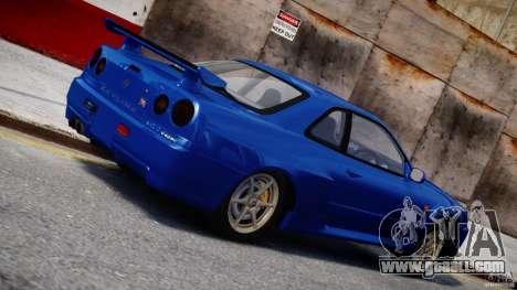 Nissan Skyline R-34 V-spec for GTA 4 left view