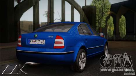 Skoda Superb 2006 for GTA San Andreas back view