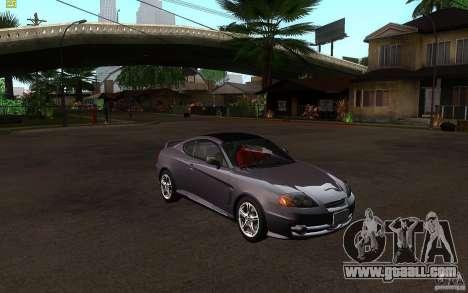Hyundai Tiburon V6 Coupe 2003 for GTA San Andreas back view
