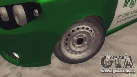 Fiat Siena Carabineros De Chile for GTA San Andreas back view