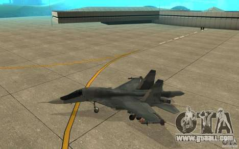 The Su-34 for GTA San Andreas back left view