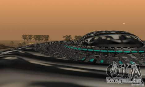 UFO for GTA San Andreas back left view