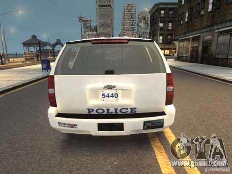 Chevrolet Tahoe NYPD V.2.0 for GTA 4 back left view