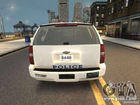 Chevrolet Tahoe NYPD V.2.0 for GTA 4 back left view