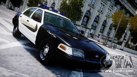 Ford Crown Victoria Massachusetts Police [ELS] for GTA 4 upper view