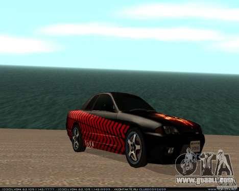 Nissan Skyline R32 GT-R + 3 vinyl for GTA San Andreas back left view