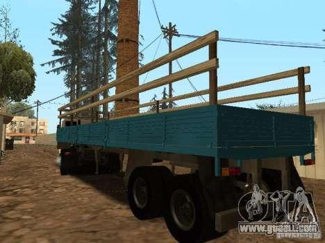 Trailer for Kamaz 5410 for GTA San Andreas left view