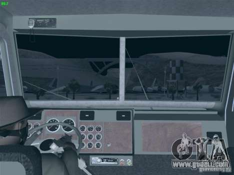 Kenworth Petrol Tanker for GTA San Andreas back view