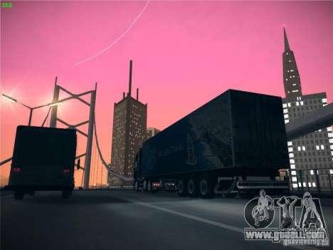 Trailer for Scania R620 Dubai Trans for GTA San Andreas inner view