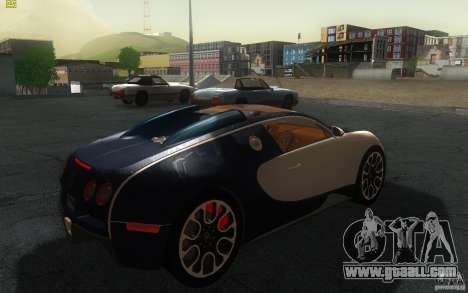 Bugatti Veyron 16.4 Grand Sport Sang Bleu for GTA San Andreas back left view
