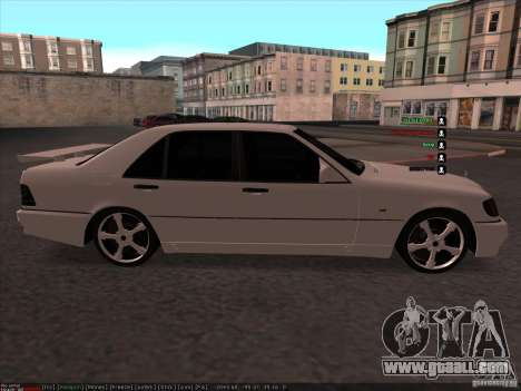 Mercedes-Benz 600SEL AMG 1993 for GTA San Andreas left view