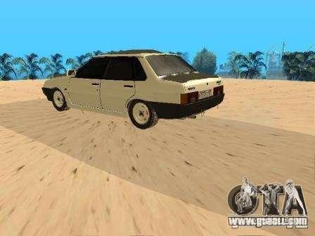 VAZ 21099 Winter for GTA San Andreas back left view