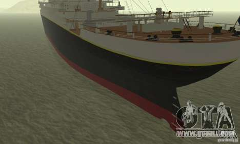 RMS Titanic for GTA San Andreas back left view