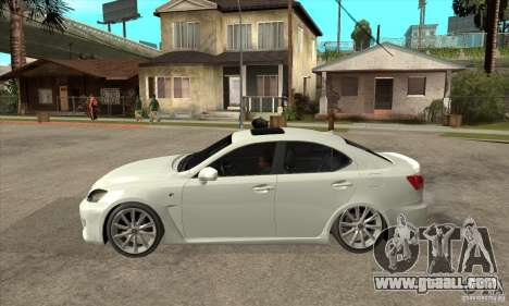 Lexus IS F 2009 for GTA San Andreas back left view
