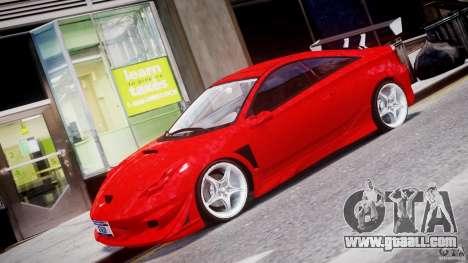 Toyota Celica Tuned 2001 v1.0 for GTA 4 left view