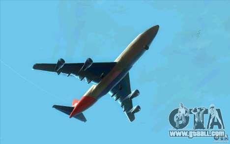 Boeing Qantas 747-400 for GTA San Andreas back view