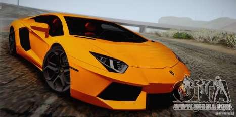 Lamborghini Aventador LP700-4 Final for GTA San Andreas upper view