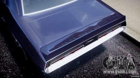 Dodge Challenger 1971 for GTA 4 inner view