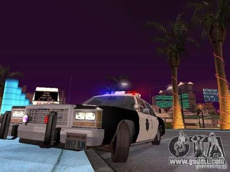 Ford LTD Crown Victoria Interceptor LAPD 1985 for GTA San Andreas inner view