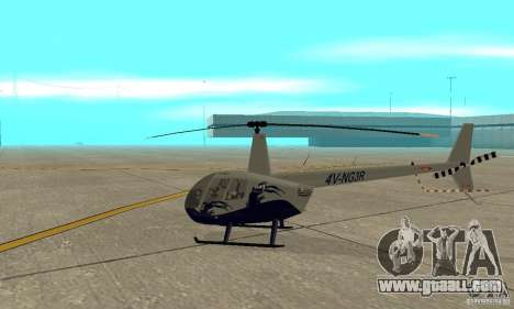 Robinson R44 Raven II NC 1.0 Skin 4 for GTA San Andreas back left view