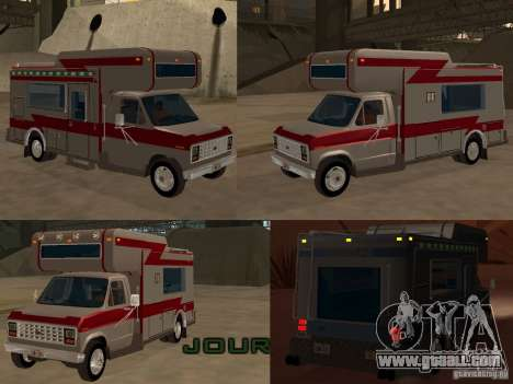 1986 Ford Econoline for GTA San Andreas upper view