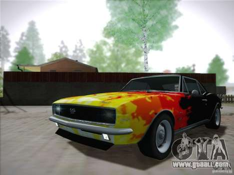 Chevrolet Camaro SS 1967 for GTA San Andreas side view