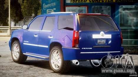 Cadillac Escalade [Beta] for GTA 4 back left view