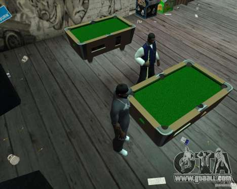 New pool table for GTA San Andreas third screenshot