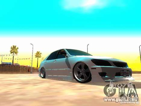 Toyota Altezza HKS for GTA San Andreas left view