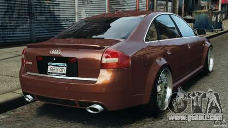 Audi RS6 2003 for GTA 4 back left view