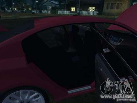 Hyundai Genesis for GTA San Andreas bottom view