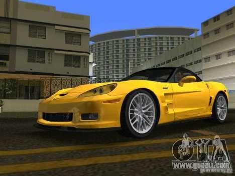 Chevrolet Corvette ZR1 for GTA Vice City right view