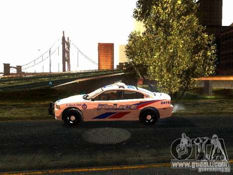 Dodge Charger 2011 Toronto Police for GTA San Andreas left view